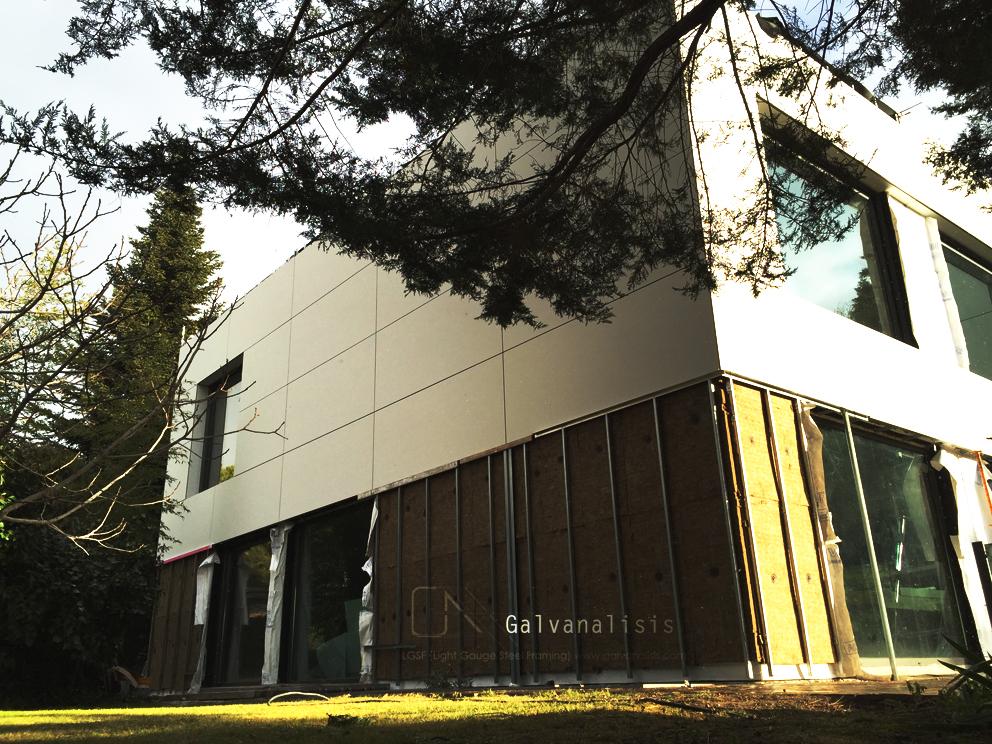 steel framing fachada ventilada
