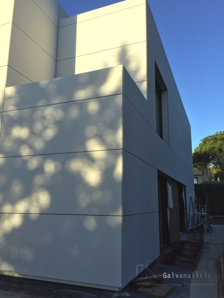 fachada ventilada steel frame