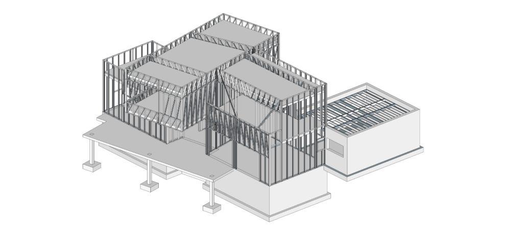 esquema estructural steel framing