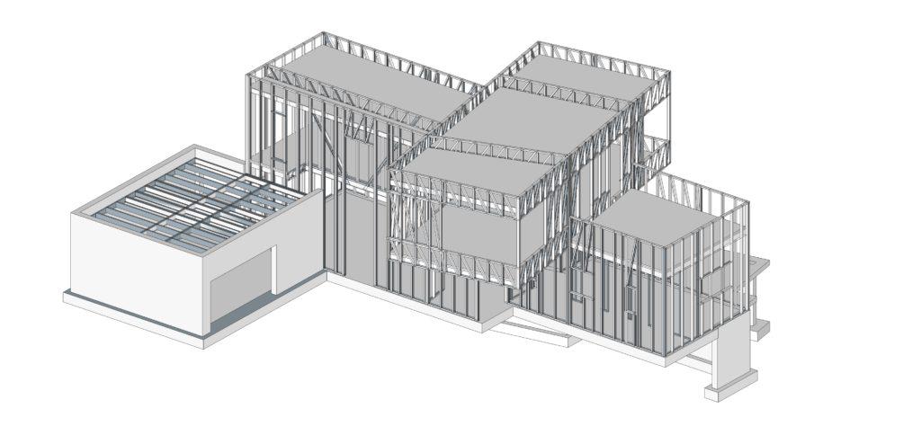 esquema estructural steel frame
