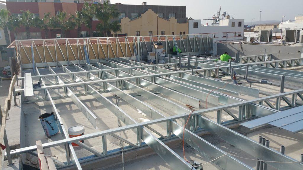 Forjado steel framing sobre la cubierta